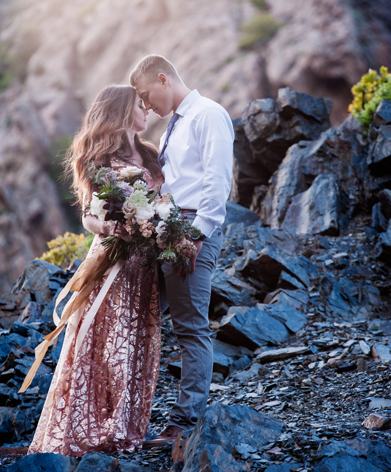 Idaho Utah Engagement Mountain