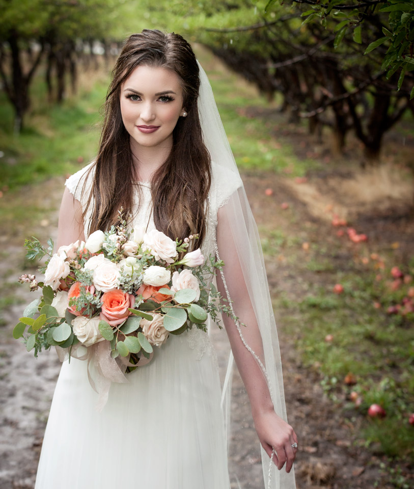Utah Idaho Styled Bride Orchard